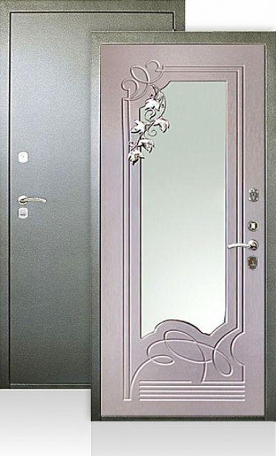 дверь металлическая входная гарант с зеркалами